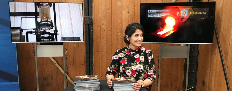 Messetand der EMH - Anlegertag 2019 in Düsseldorf