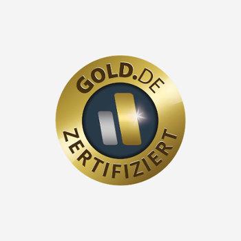 Zertifizierungslogo von Gold.de